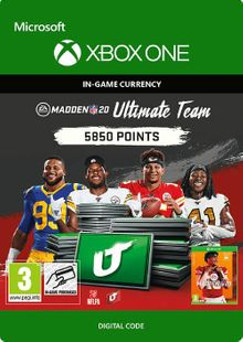 Madden NFL 20 5850 MUT Points Xbox One cheap key to download