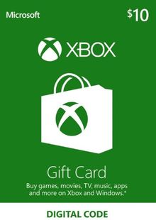 Microsoft Gift Card - $10 (Xbox One/360) cheap key to download