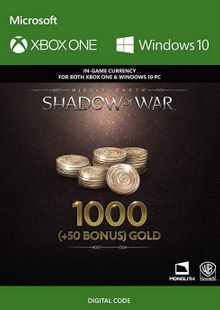Middle-Earth: Shadow of War - 1050 Gold Xbox One billig Schlüssel zum Download