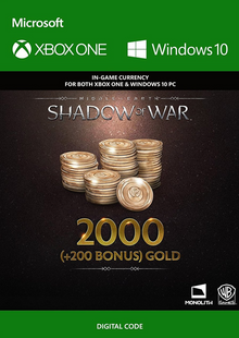 Middle-Earth: Shadow of War - 2200 Gold Xbox One clé pas cher à télécharger