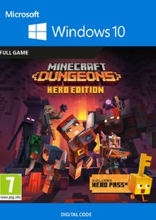 Minecraft Dungeons Hero Edition - Windows 10 PC cheap key to download