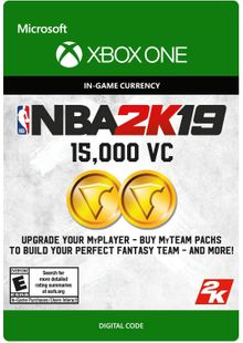NBA 2K19: 15,000 VC Xbox One cheap key to download