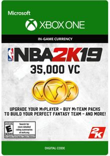 NBA 2K19: 35,000 VC Xbox One cheap key to download