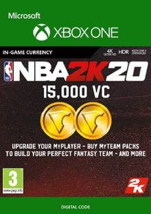 NBA 2K20: 15,000 VC Xbox One cheap key to download