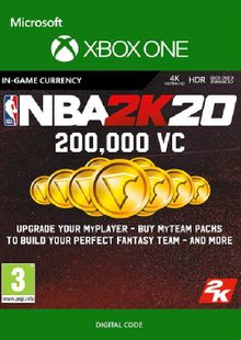 NBA 2K20: 200,000 VC Xbox One cheap key to download