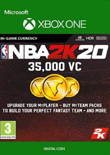 NBA 2K20: 35,000 VC Xbox One cheap key to download