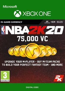 NBA 2K20: 75,000 VC Xbox One cheap key to download