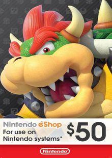 Nintendo eShop Card $50 (USA) billig Schlüssel zum Download