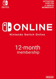 Nintendo Switch Online 12 Month (365 Day) Membership Switch clé pas cher à télécharger