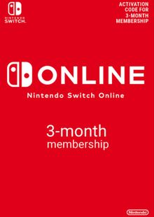 Nintendo Switch Online 3 Month (90 Day) Membership Switch clé pas cher à télécharger