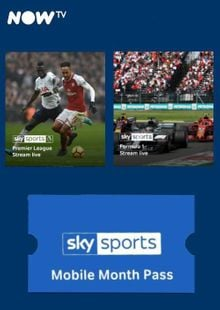 NOW TV - Sky Sports Mobile Month Pass cheap key to download