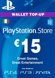 Playstation Network (PSN) Card - 15 EUR (Italy) cheap key to download