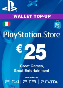 Playstation Network (PSN) Card - 25 EUR (Italy) cheap key to download