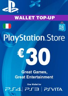 Playstation Network (PSN) Card - 30 EUR (Italy) cheap key to download
