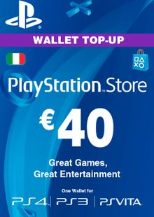 Playstation Network (PSN) Card - 40 EUR (Italy) cheap key to download