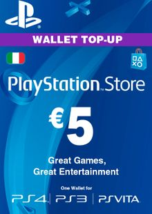 Playstation Network (PSN) Card - 5 EUR (Italy) cheap key to download