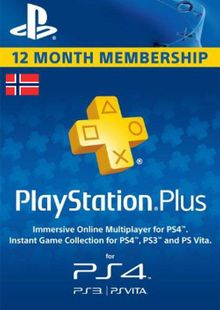 Playstation Plus - 12 Month Subscription (Norway) billig Schlüssel zum Download