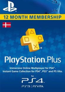 Playstation Plus - 12 Month Subscription (Denmark) billig Schlüssel zum Download
