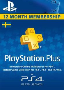 Playstation Plus - 12 Month Subscription (Sweden) billig Schlüssel zum Download