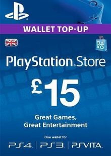 PlayStation Network Card - £15 (PS Vita/PS3/PS4) cheap key to download