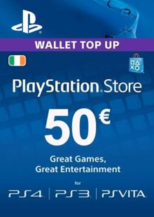PlayStation Network (PSN) Card - 50 EUR (Ireland) billig Schlüssel zum Download