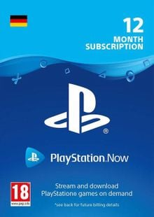 PlayStation Now 12 Month Subscription (Germany) clé pas cher à télécharger