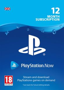 PlayStation Now 12 Month Subscription (UK) clé pas cher à télécharger
