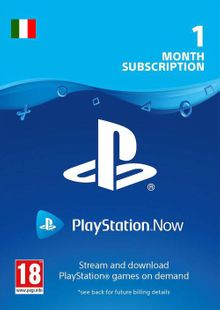 PlayStation Now 1 Month Subscription (Italy) billig Schlüssel zum Download