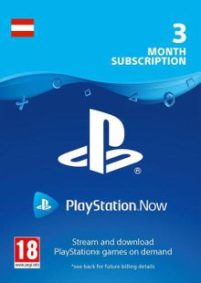 PlayStation Now 3 Month Subscription (Austria) clé pas cher à télécharger