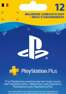 Playstation Plus (PS+) - 12 Month Subscription (Belgium) clé pas cher à télécharger