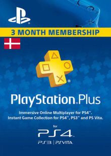 Playstation Plus - 3 Month Subscription (Denmark) billig Schlüssel zum Download