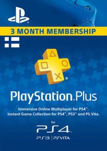 Playstation Plus - 3 Month Subscription (Finland) billig Schlüssel zum Download