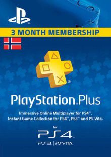 Playstation Plus - 3 Month Subscription (Norway) billig Schlüssel zum Download