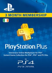 PlayStation Plus - 3 Month Subscription (Ireland) billig Schlüssel zum Download