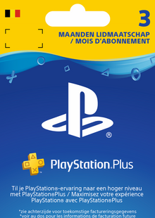 Playstation Plus (PS+) - 3 Month Subscription (Belgium) cheap key to download