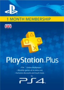PlayStation Plus (PS+) - 1 Month Subscription (UK) clé pas cher à télécharger