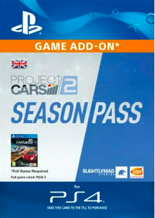 Project CARS 2 Season Pass PS4 cheap key to download