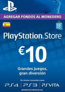 PlayStation Network (PSN) Card - 10 EUR (Spain) cheap key to download