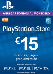 PlayStation Network (PSN) Card - 15 EUR (Spain) billig Schlüssel zum Download