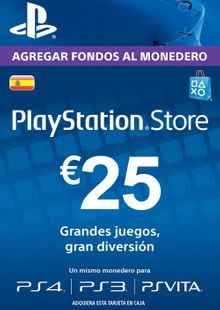 PlayStation Network (PSN) Card - 25 EUR (Spain) clé pas cher à télécharger