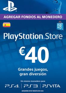 PlayStation Network (PSN) Card - 40 EUR (Spain) billig Schlüssel zum Download