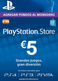 PlayStation Network (PSN) Card - 5 EUR (Spain) billig Schlüssel zum Download