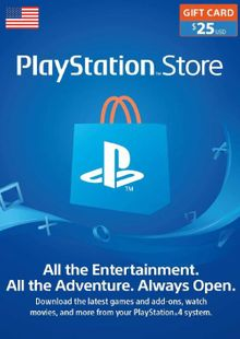 PlayStation Network (PSN) Card - 25 USD cheap key to download