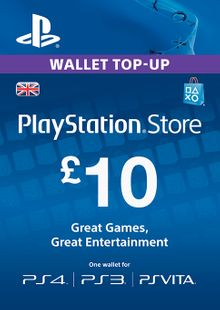 PlayStation Network Card - £10 (PS Vita/PS3/PS4) cheap key to download
