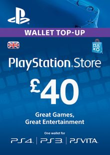 Playstation Network Card - £40 (PS Vita/PS3/PS4) cheap key to download