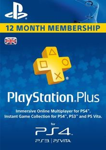 PlayStation Plus - 12 Month Subscription (UK) billig Schlüssel zum Download