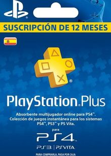 PlayStation Plus (PS+) - 12 Month Subscription (Spain) clé pas cher à télécharger
