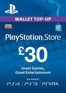 Playstation Network (PSN) Card - 30 GBP cheap key to download