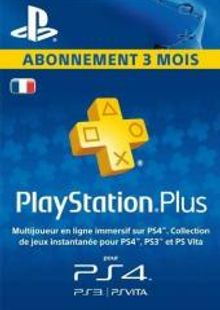 PlayStation Plus (PS+) - 3 Month Subscription (France) billig Schlüssel zum Download