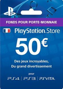 PlayStation Network (PSN) Card - 50 EUR (France) cheap key to download